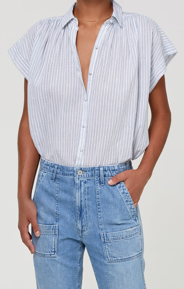 Penny Blouse Cloud Stripe front