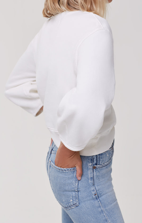 Maya Mock Neck Sweatshirt Vanilla side