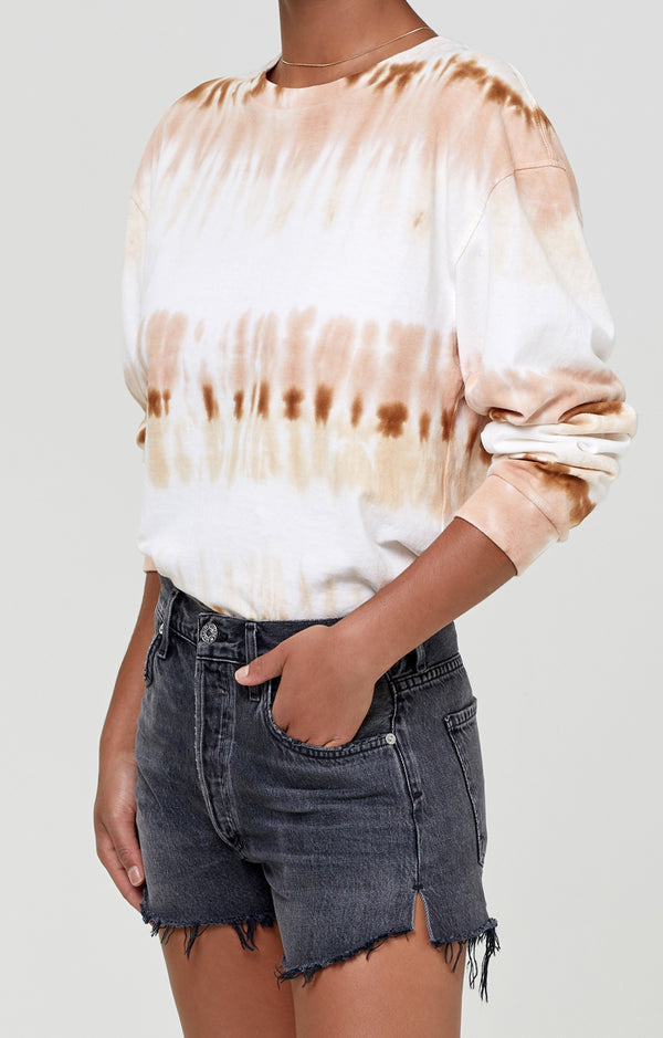 Oversized Long Sleeve Shirt Chai Tie Dye side