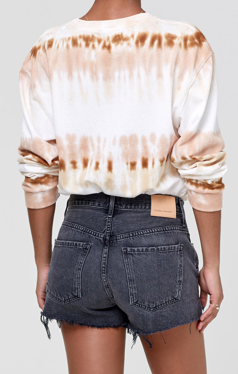 Oversized Long Sleeve Shirt Chai Tie Dye back