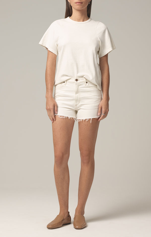 kristen high rise short ivory coast front