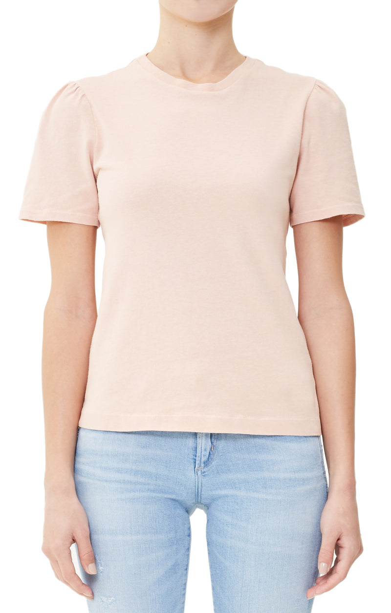 hannah puff sleeve rose cloud front
