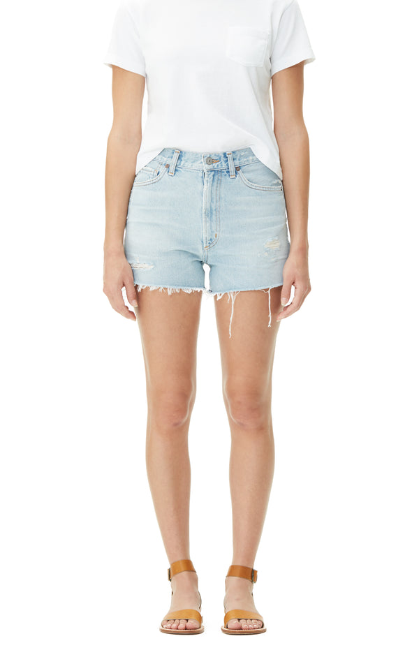 Kristen High Rise Short in Forget Me Not