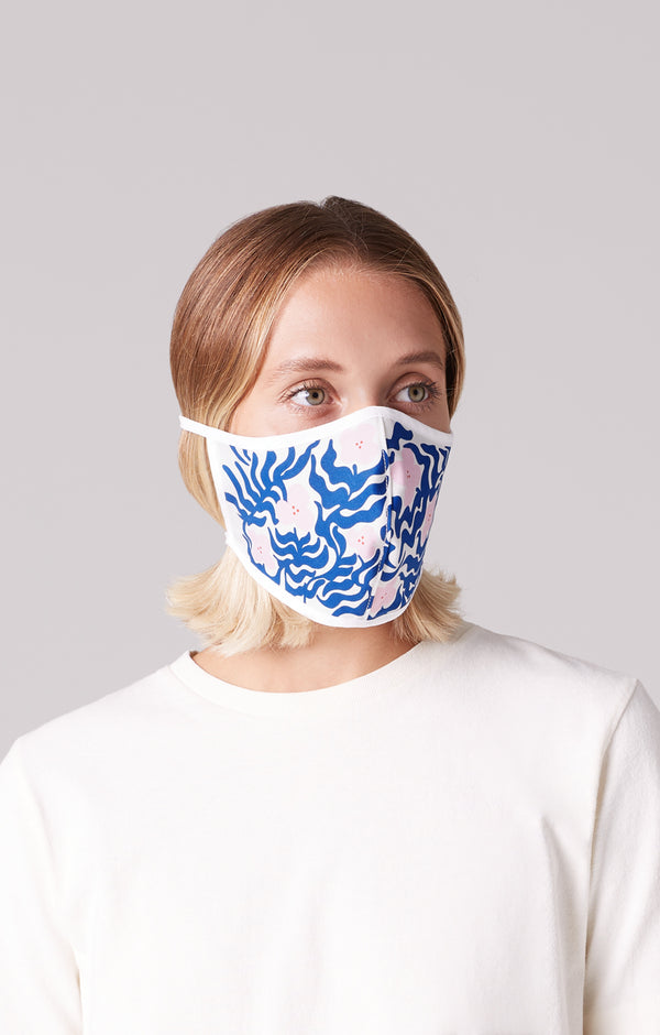Wylie West Floral Mask on model