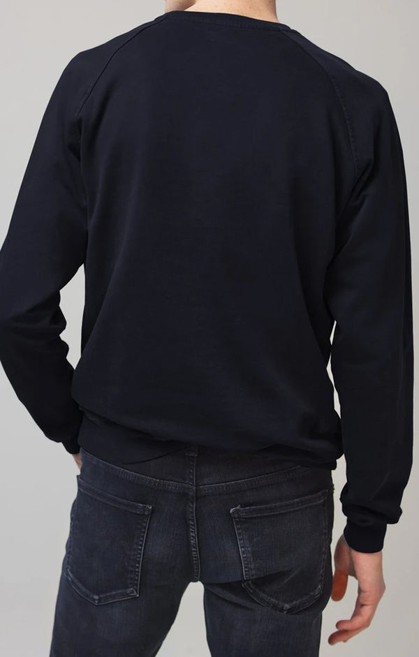 collegiate raglan crewneck dark navy back