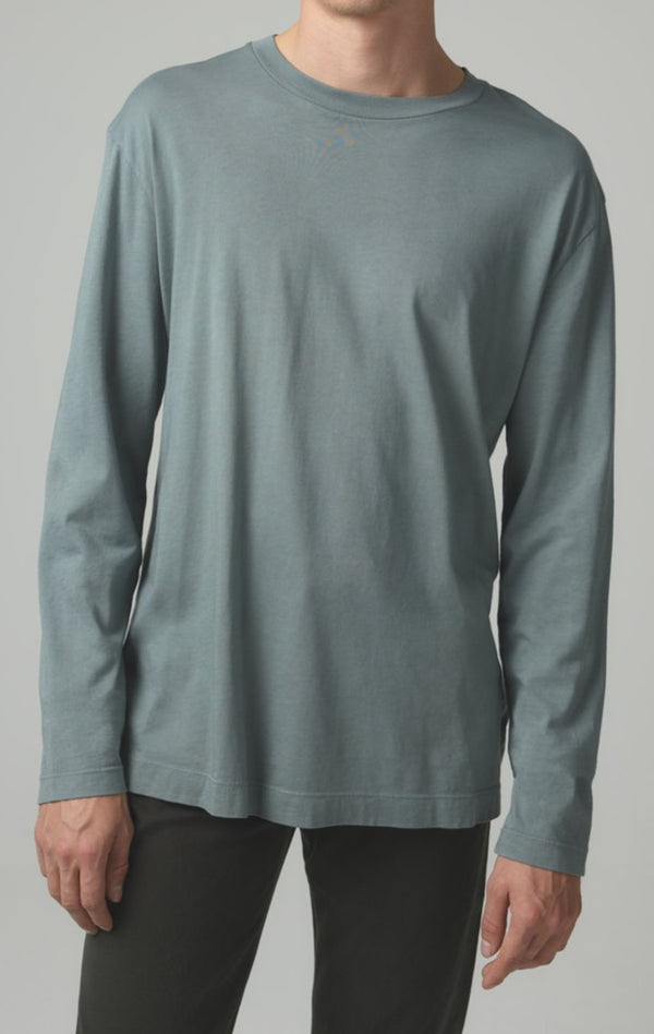 Workday Long Sleeve Tee in Leaf Front