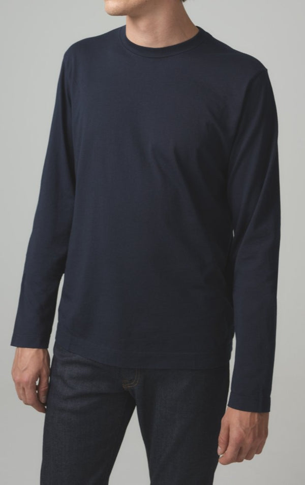 Workday Long Sleeve Tee in Navy Front