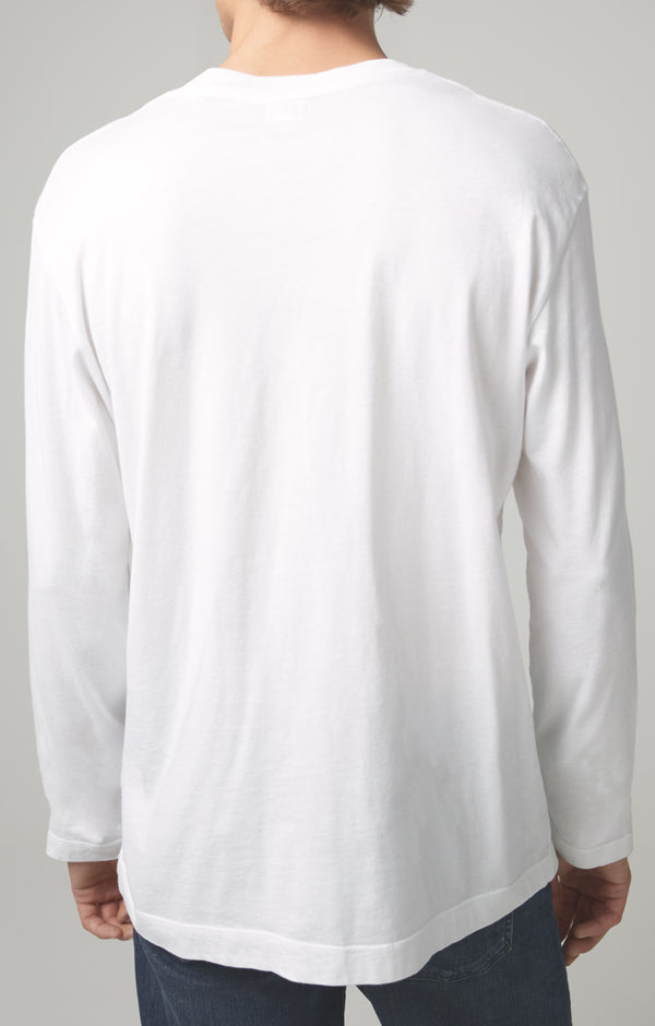 Workday Long Sleeve Tee in White back