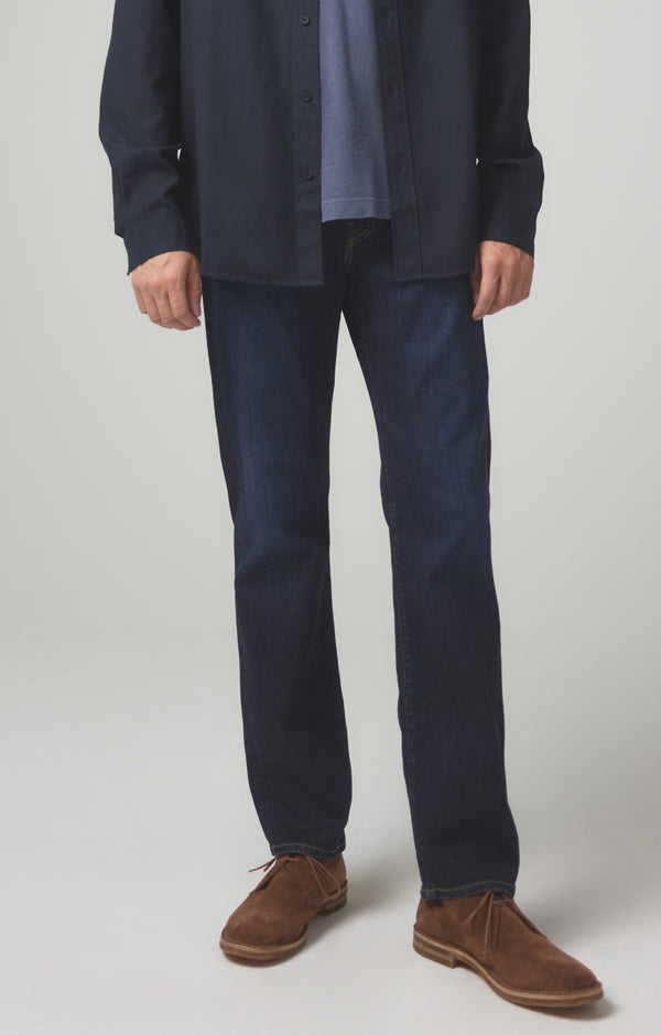sid regular straight fit dark indigo front