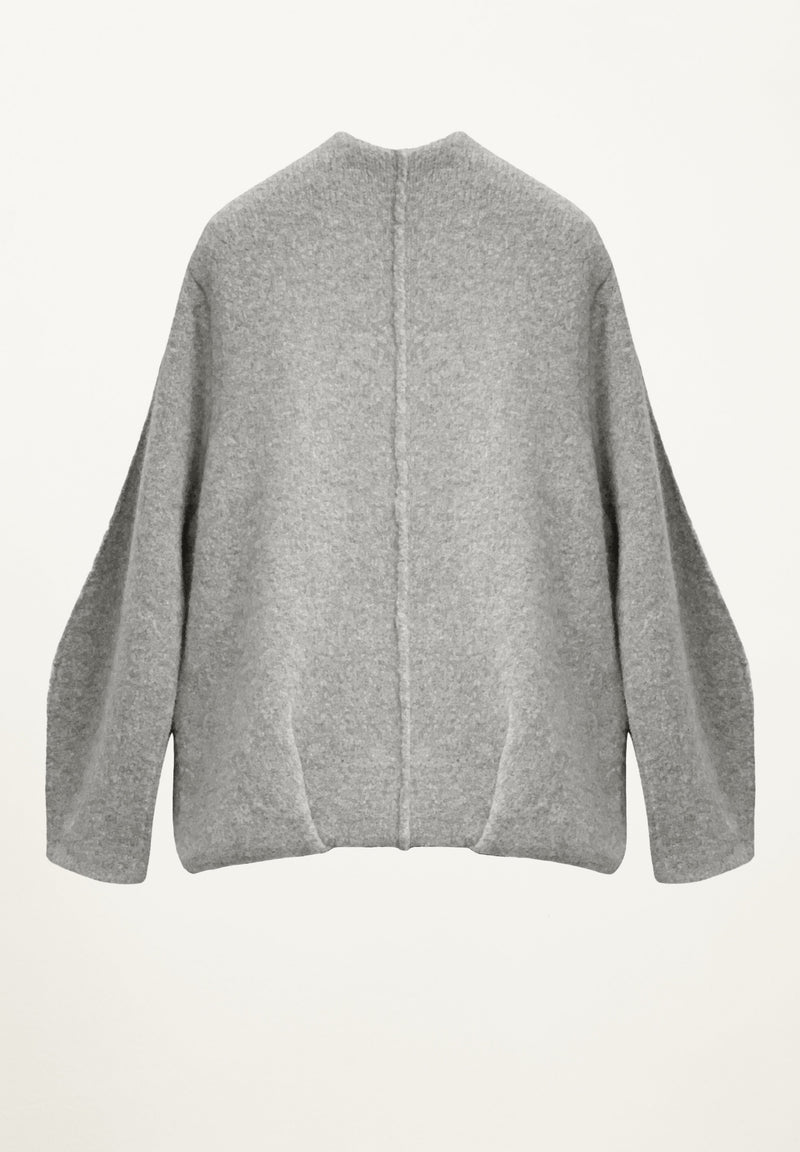 Talisa Knit Bomber in Heather