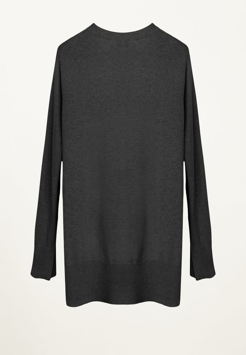 Taylor Cashmere Tunic in Charcoal