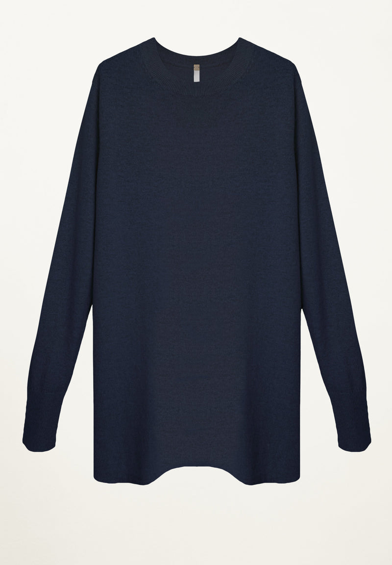 Taylor Cashmere Tunic in Navy