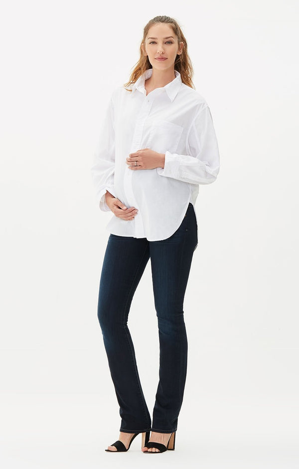 maternity ava classic straight fit leg faith front