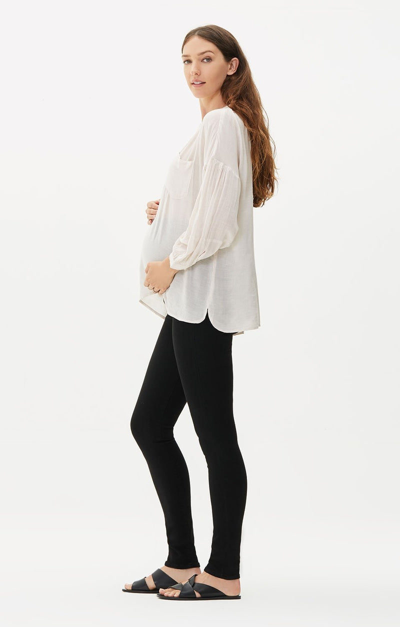 maternity avedon ultra skinny fit all black side