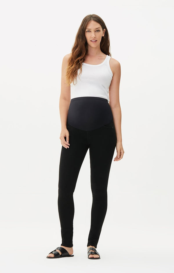 maternity avedon ultra skinny fit all black back
