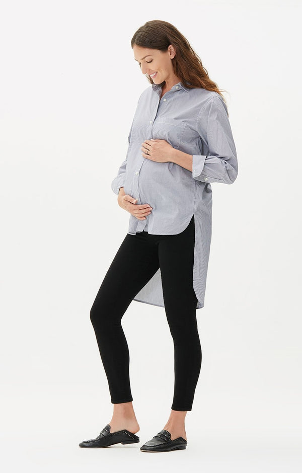maternity avedon ankle ultra skinny fit all black front