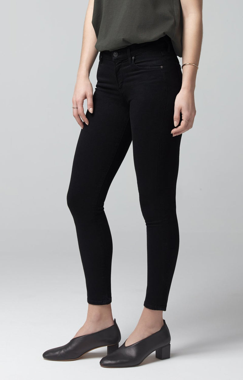 avedon ankle ultra skinny fit all black back