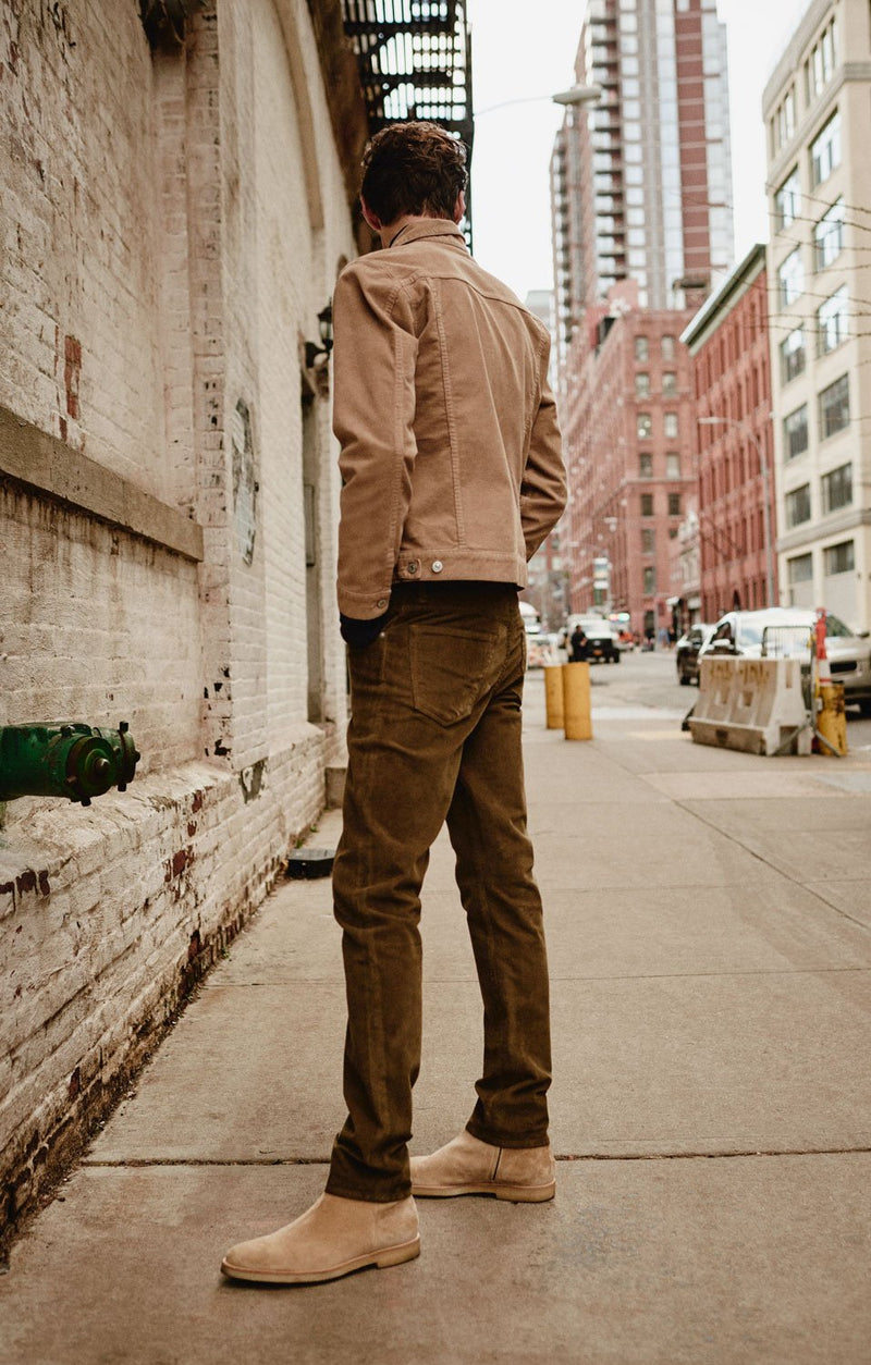 bowery standard slim fit mocha side