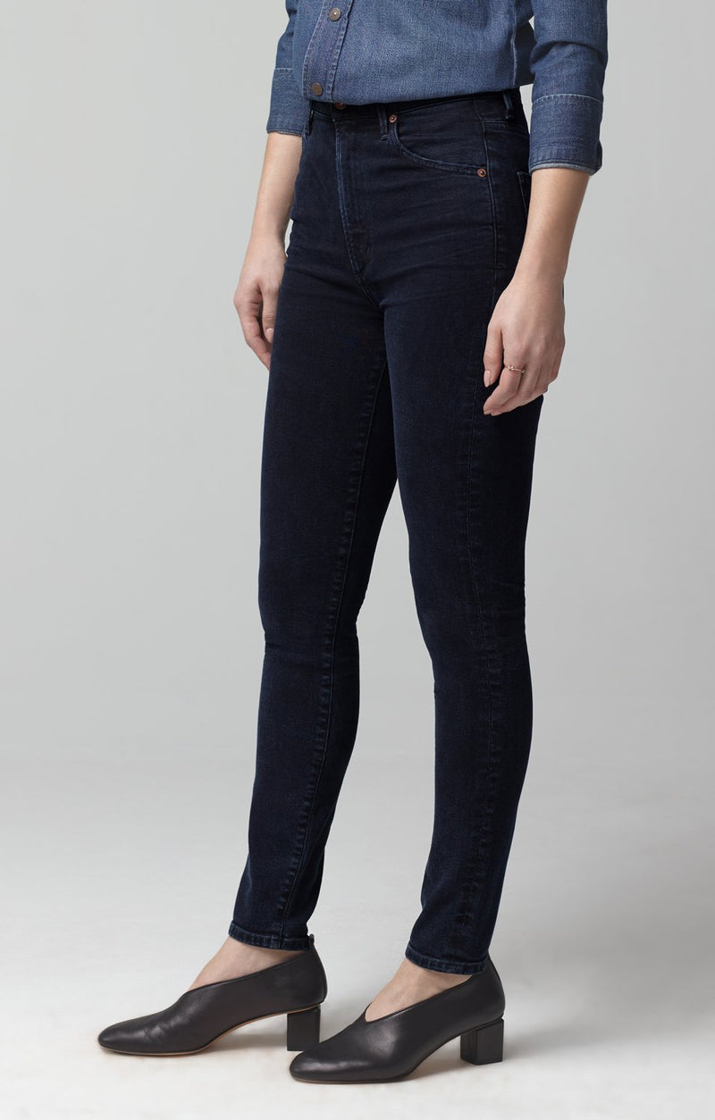 chrissy high rise skinny fit inkwell back