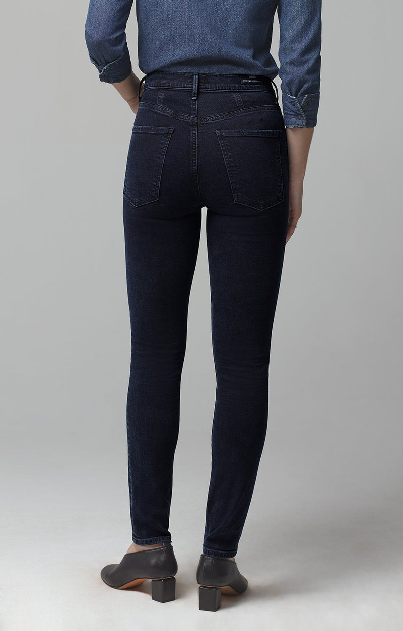 chrissy high rise skinny fit inkwell side