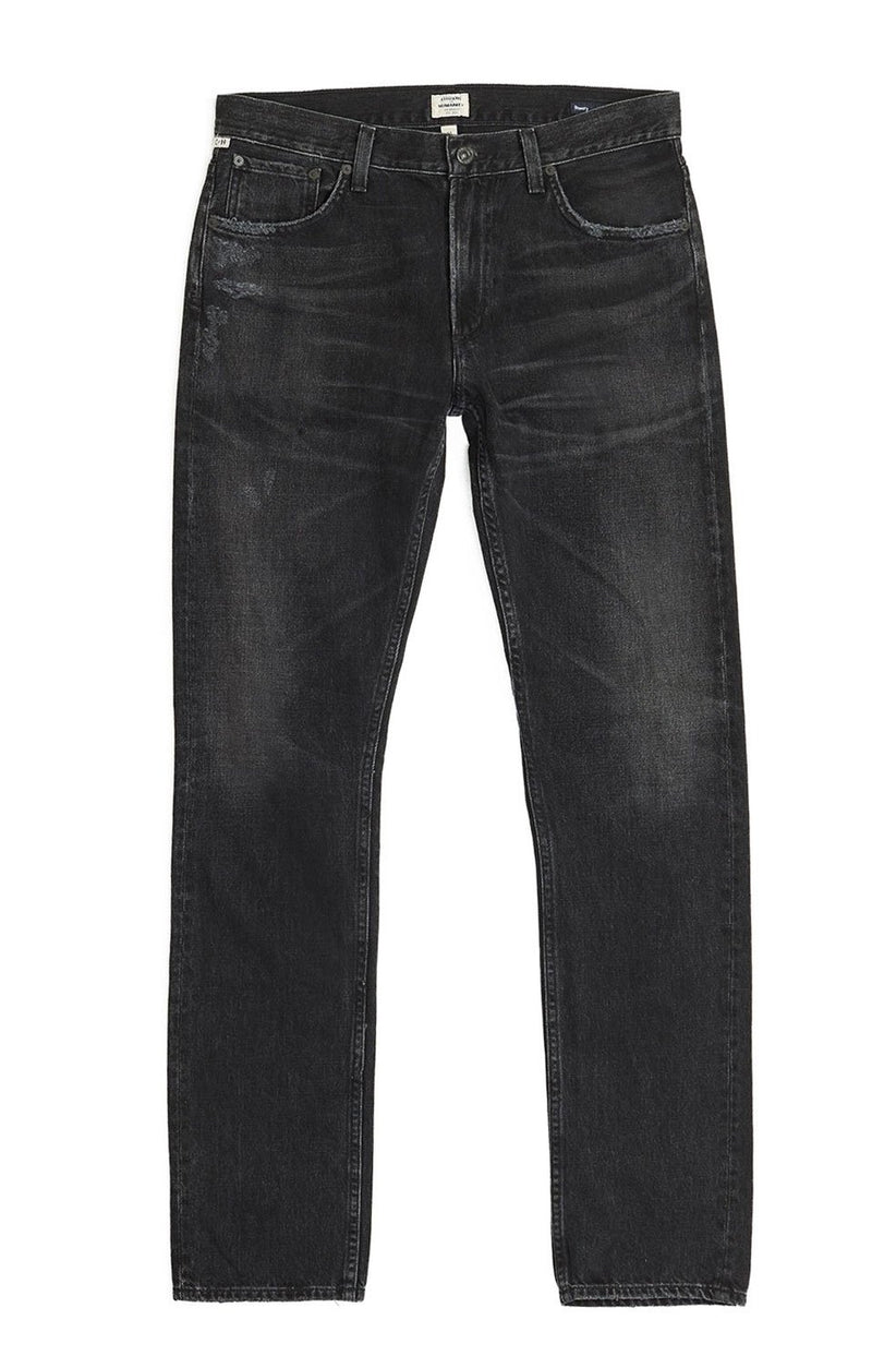 bowery standard slim fit black birch detail
