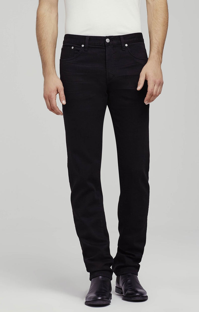 core slim straight fit black back