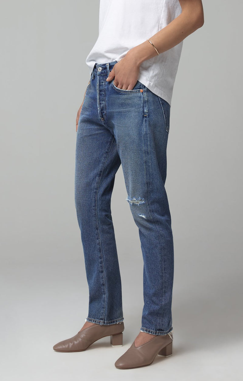 corey slouchy slim fit distressed turnaround back