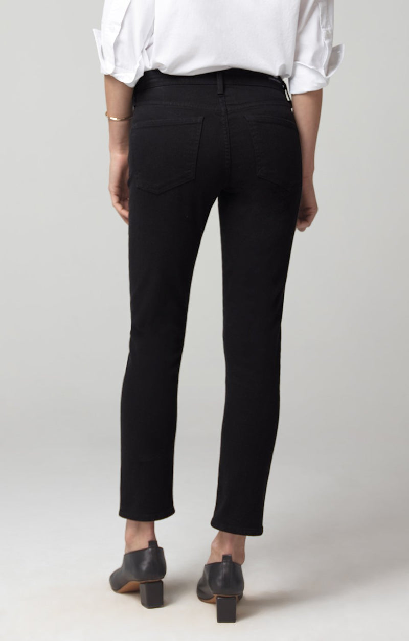 elsa mid rise slim fit crop black side