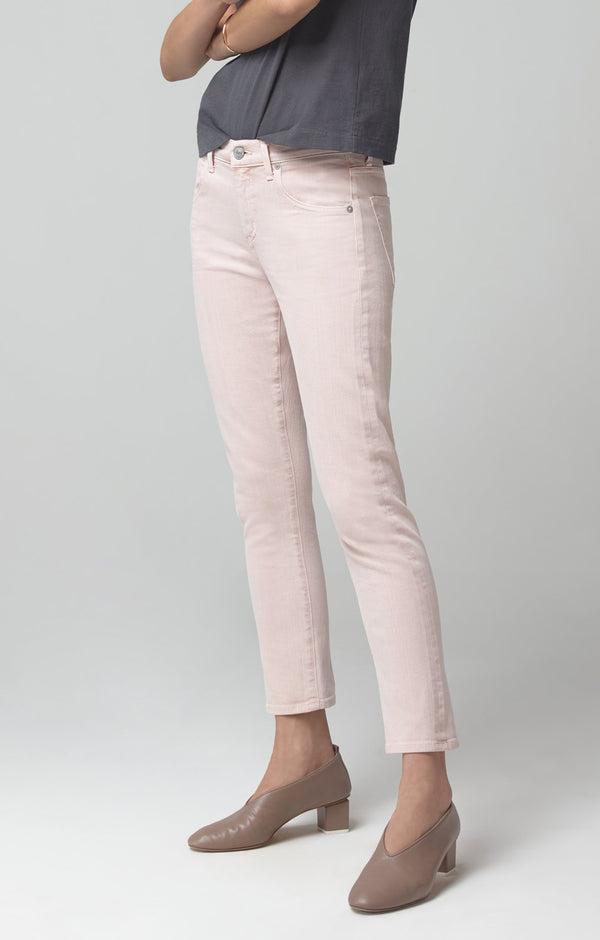elsa mid rise slim fit crop calamine back
