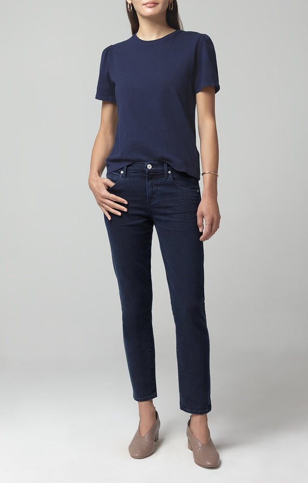 elsa mid rise slim fit crop midnight front