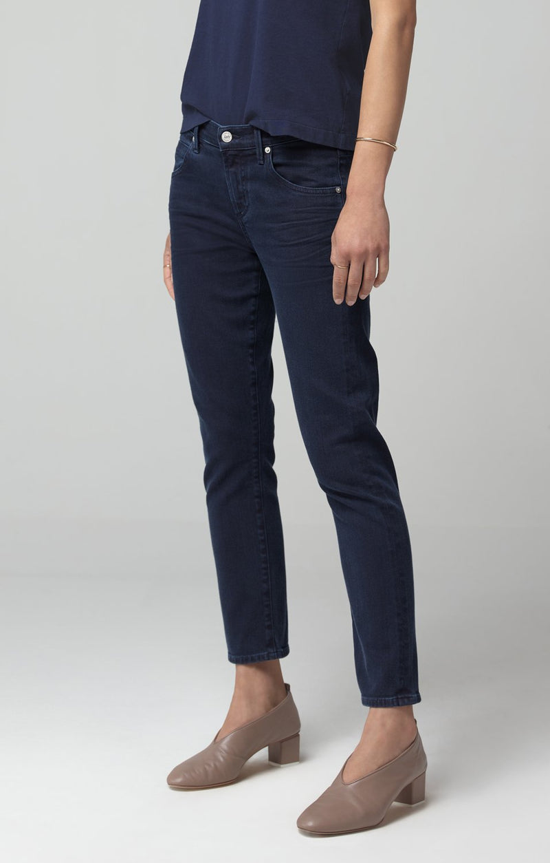 elsa mid rise slim fit crop midnight side