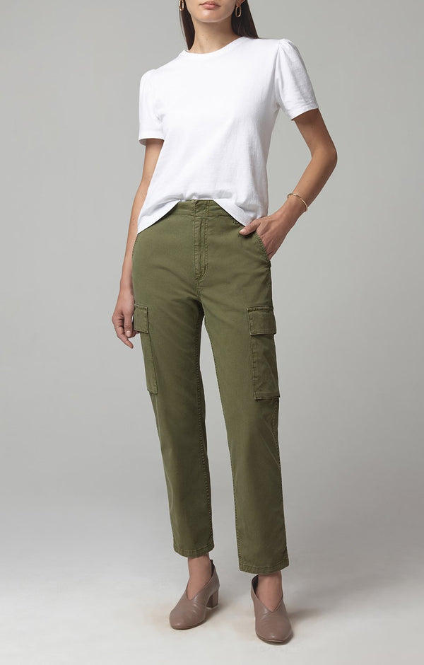 gaia pant army green front