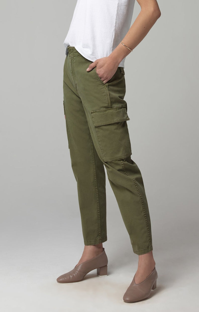 gaia pant army green side