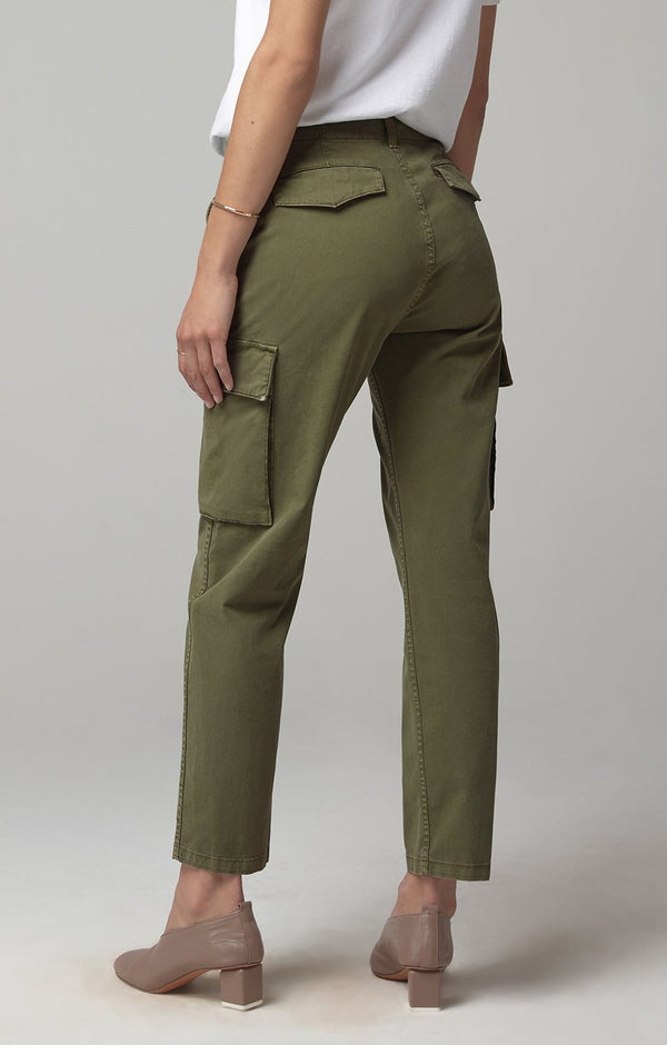 gaia pant army green back