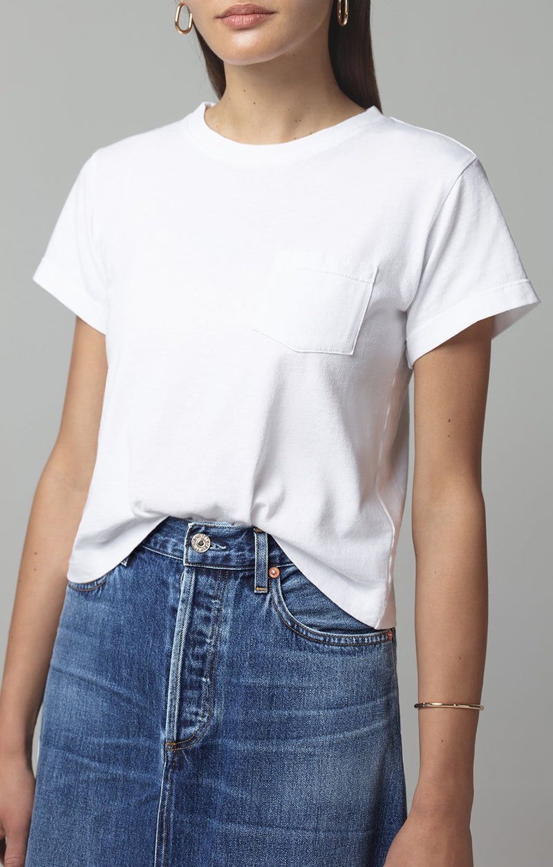 grace pocket tee shirt white front