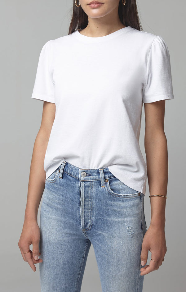 hannah puff sleeve white front