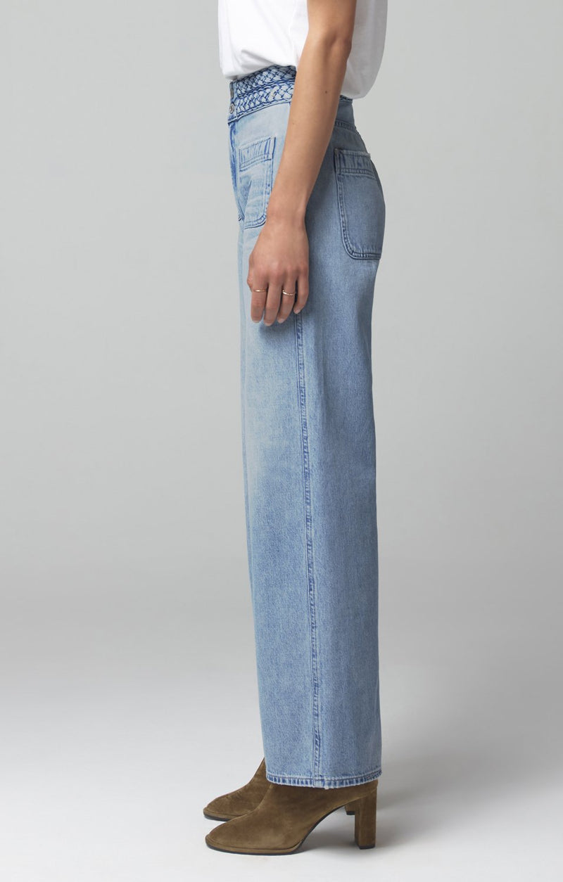 isla braided wide leg believer back