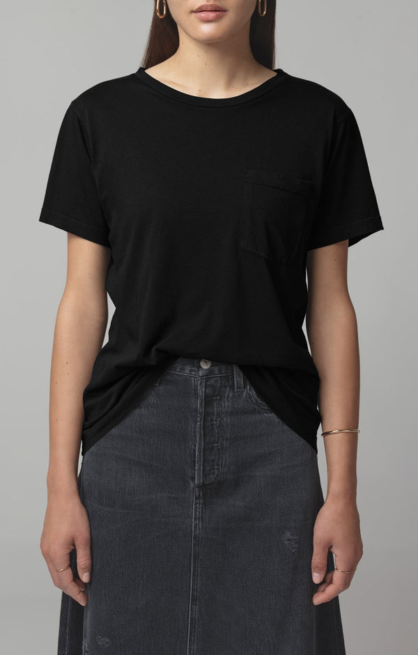 lela pocket t vintage black front