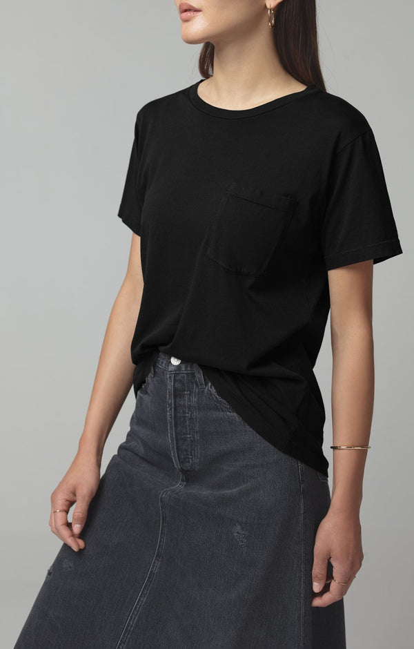 lela pocket t vintage black side