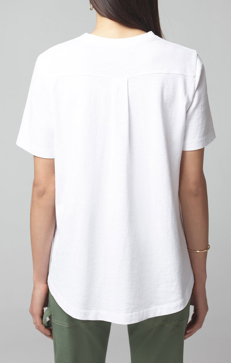 lenu back pleat shirt white detail