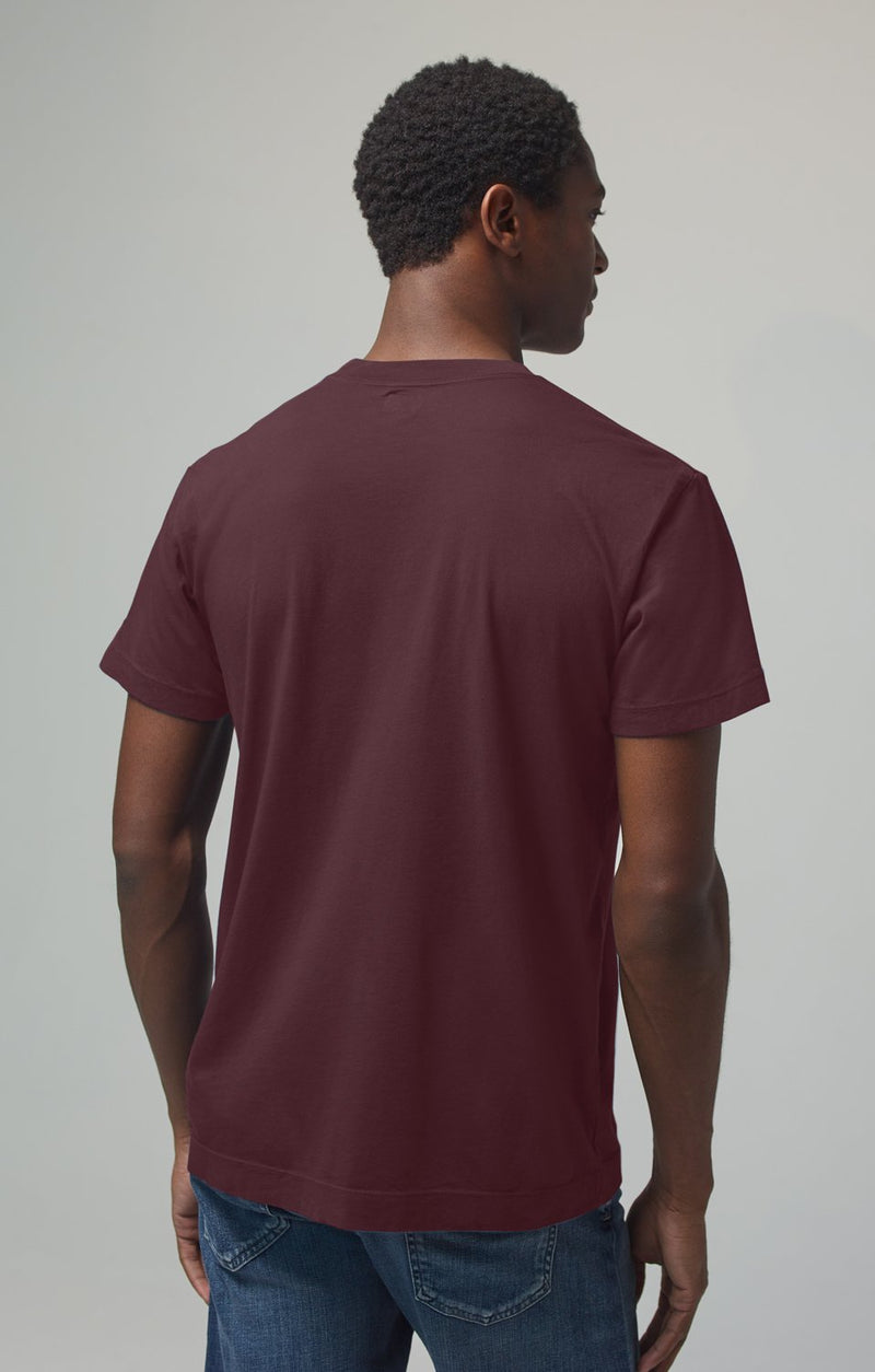 everyday short sleeve tee shirt burgundy back