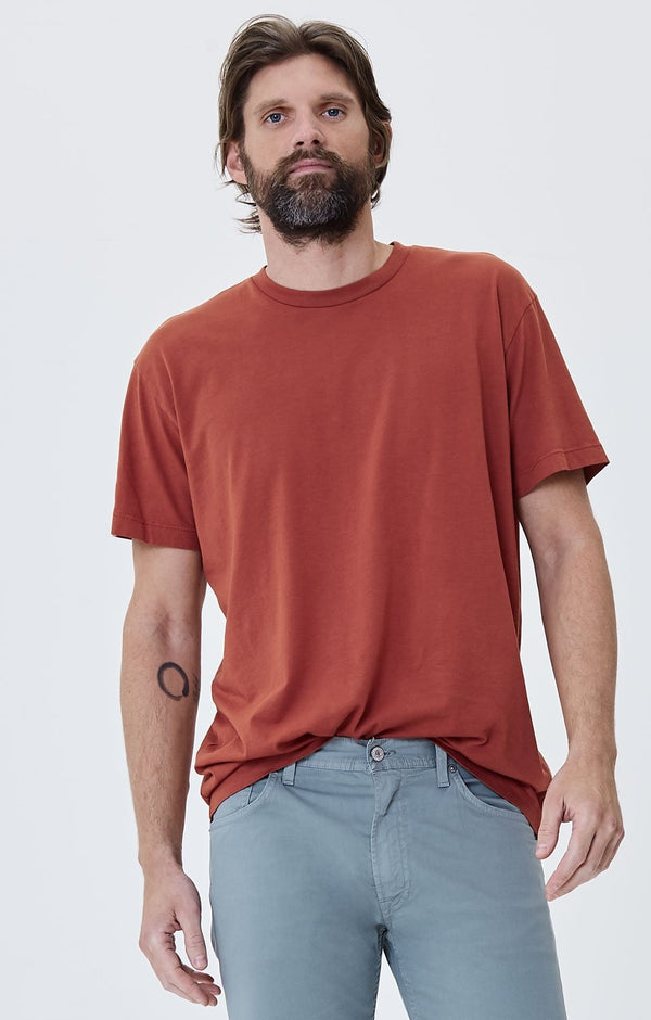 everyday short sleeve tee shirt rust front