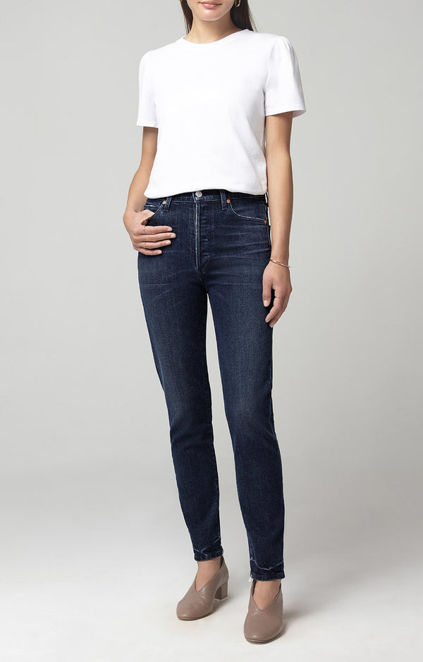 olivia high rise slim fit aspire front
