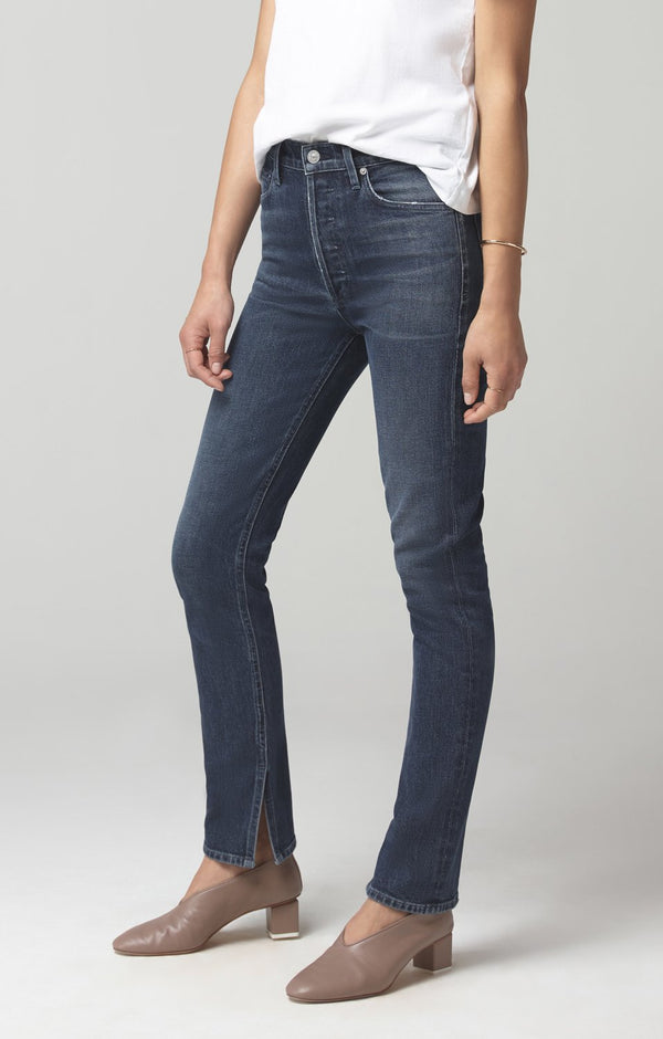 olivia long high rise slim fit night shift back