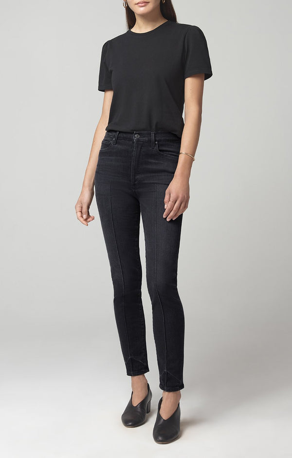 olivia high rise slim fit salem front