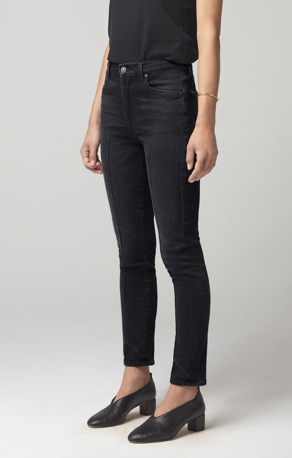 olivia high rise slim fit salem back
