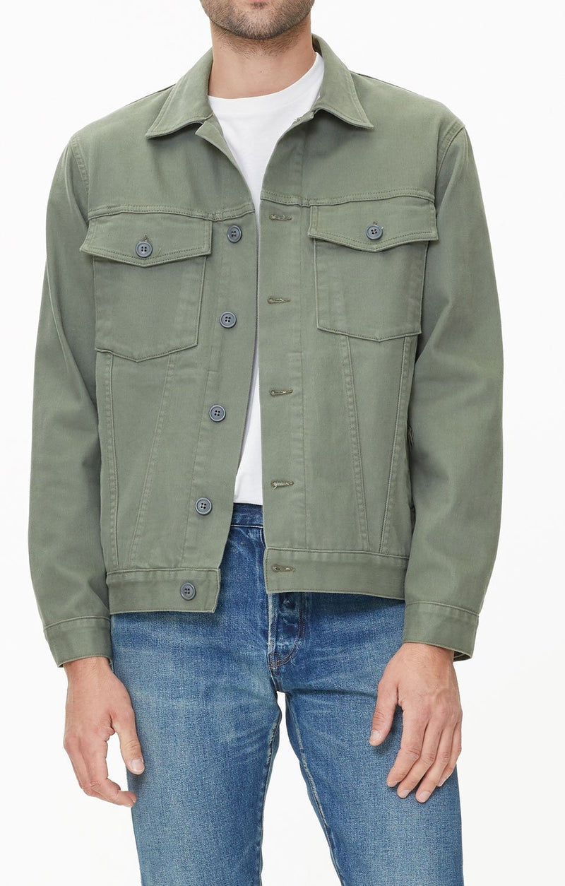 oversized trucker jacket corporal green side