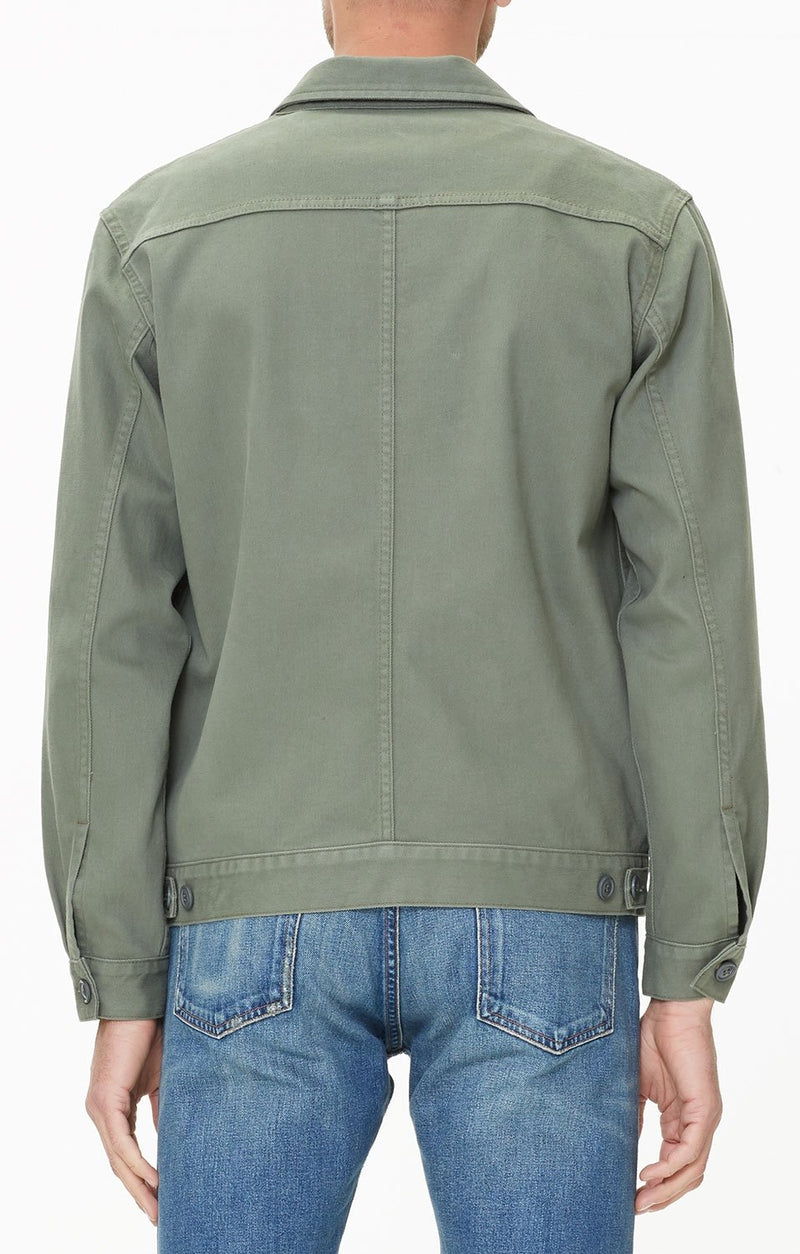 oversized trucker jacket corporal green detail