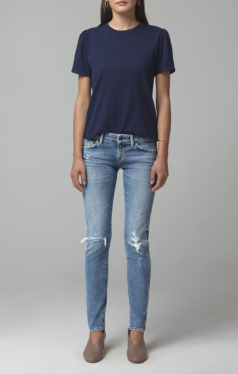 racer low rise skinny fit distressed encore front