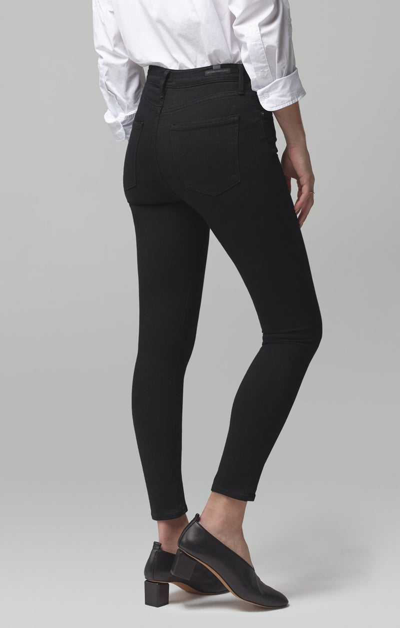 rocket crop mid rise skinny fit all black side